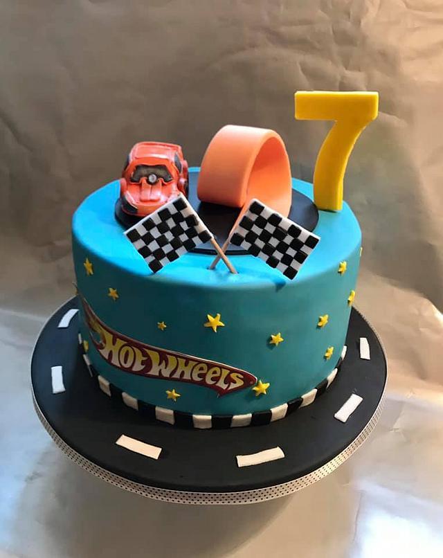 Magnificent Cake Hot Wheels Cake By Sladkosti S Radosti Sladky Cakesdecor Funny Birthday Cards Online Chimdamsfinfo