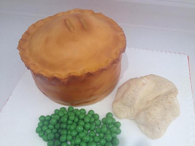 Pie, mashed potatoe and peas oh yes please