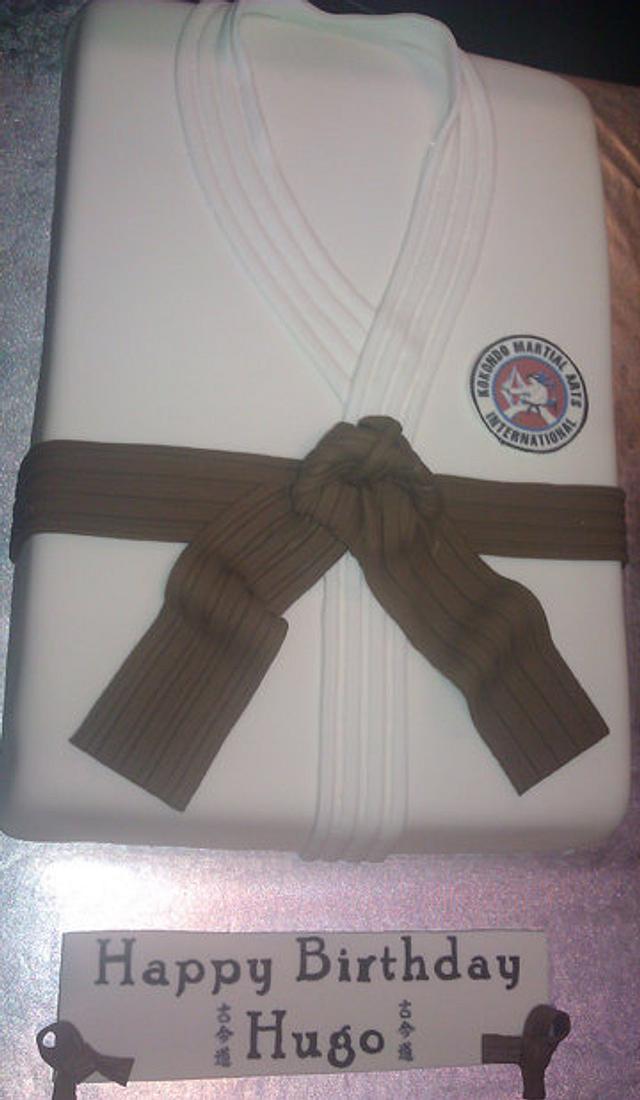 Martial arts Gi cake for Jukido Jujitsu