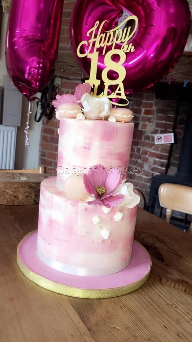 Awesome 18Th Birthday Cake Cake By Daisychains Cakes Cakesdecor Personalised Birthday Cards Akebfashionlily Jamesorg