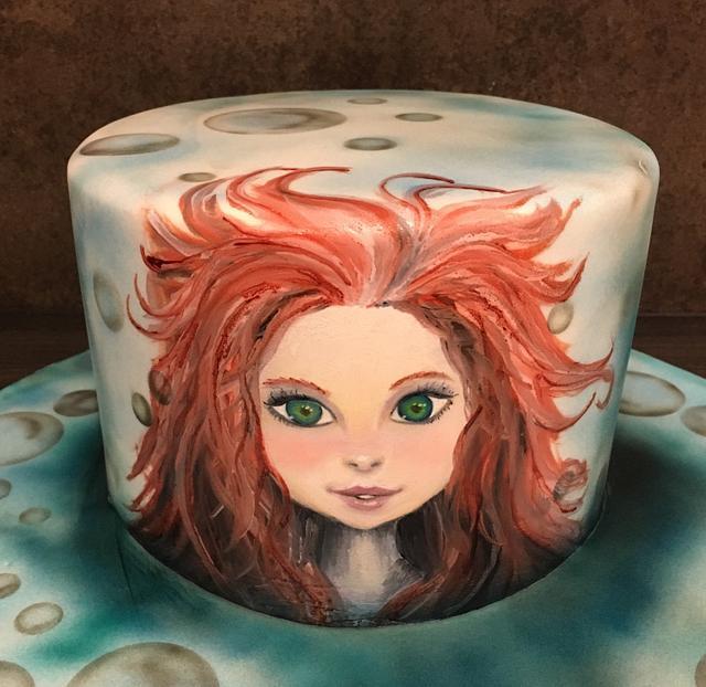 Handpainted Ariel, Little Mermaid