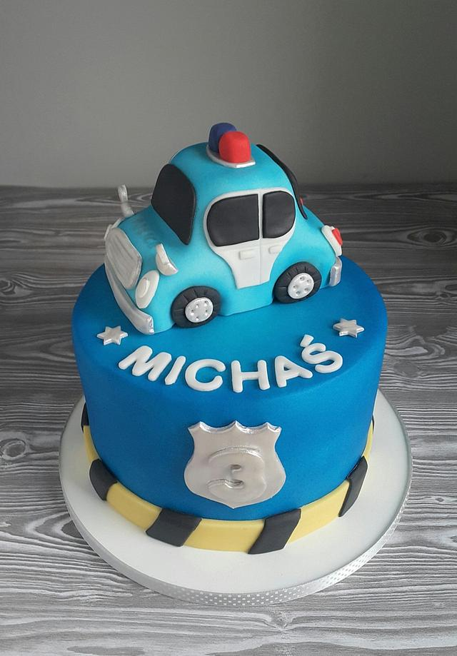 Sensational Police Car Birthday Cake Cake By Agnieszka Czocher Cakesdecor Funny Birthday Cards Online Alyptdamsfinfo