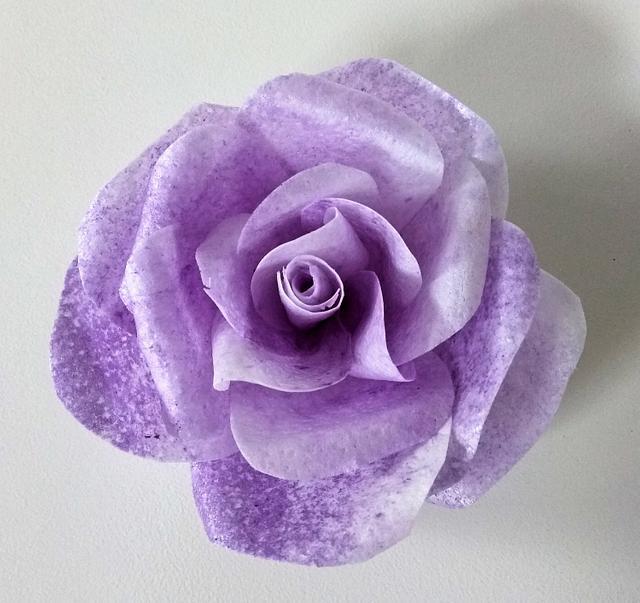 Purple wafer paper rose