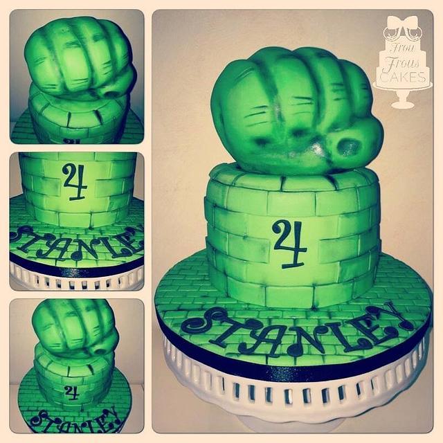Amazing Hulk Inspired Birthday Cake Cake By Frou Frous Cakes Cakesdecor Funny Birthday Cards Online Elaedamsfinfo