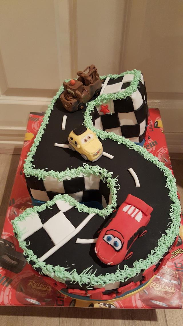 Cars numbercake
