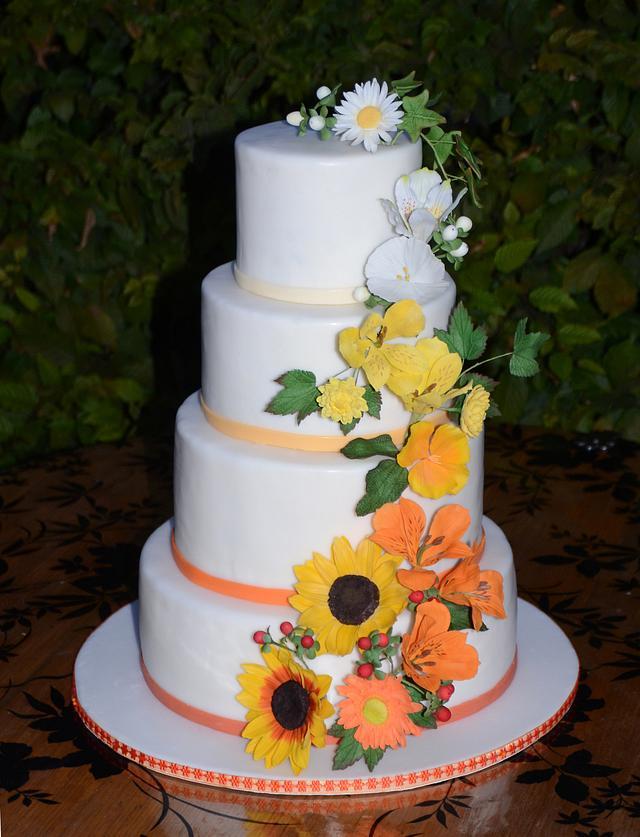 Anna's and Alex's Wedding Cake
