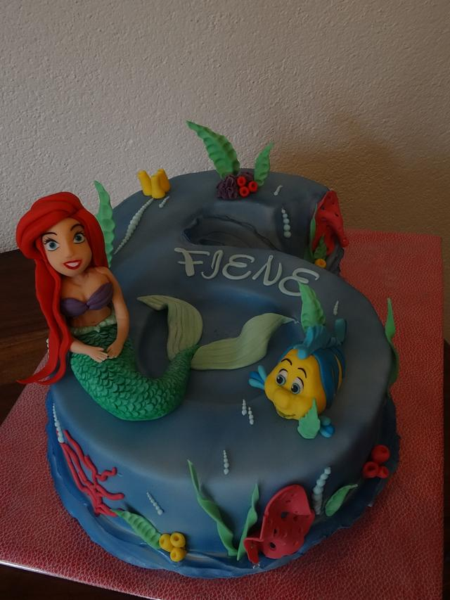 Little Mermaid number 6 cake