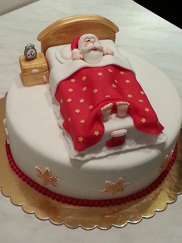 Hush! Santa is sleepy ;)