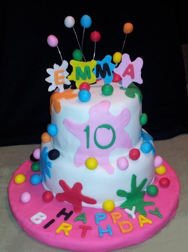 Paint Ball Splatter Cake