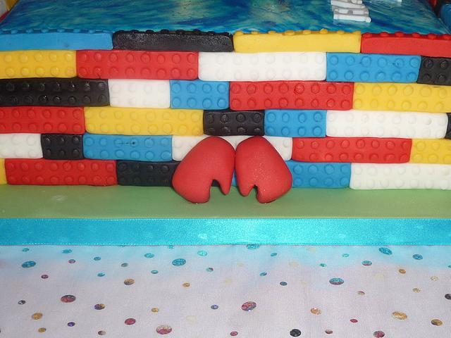 A Sporting theme cake with a bit of a twist..
