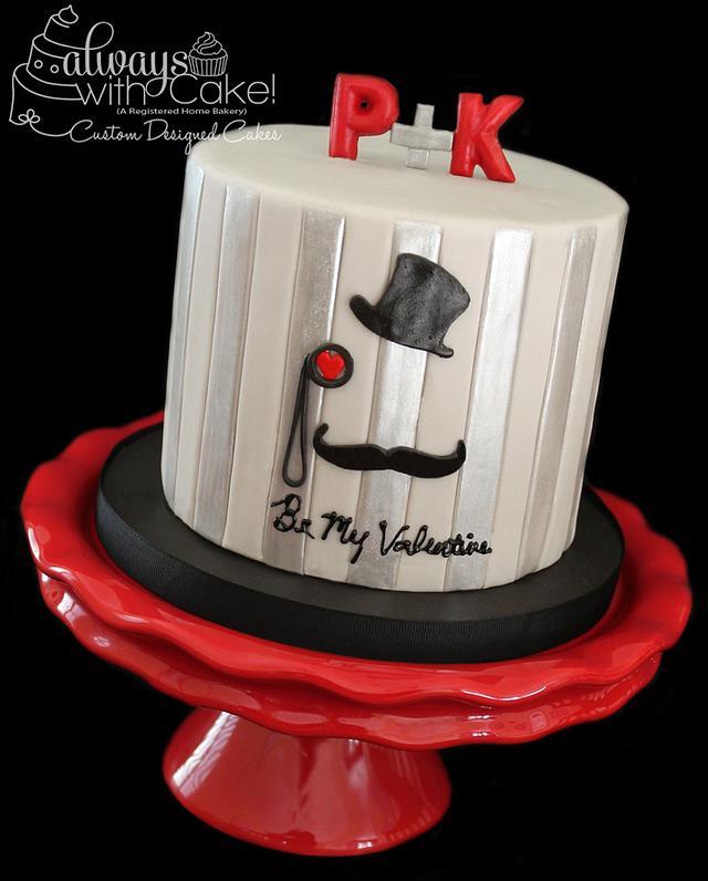 Hat's Off Valentine's Day Cake