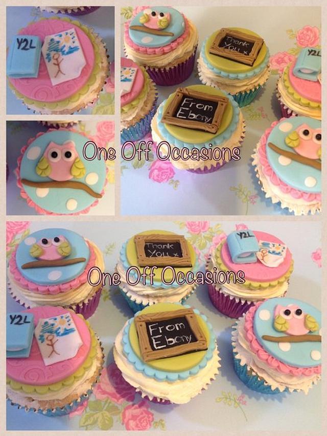 Thank-you teacher cupcakes