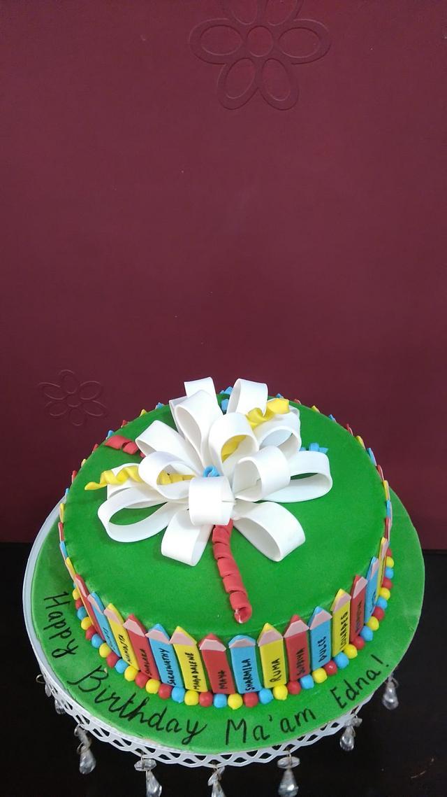 A cake for a teacher