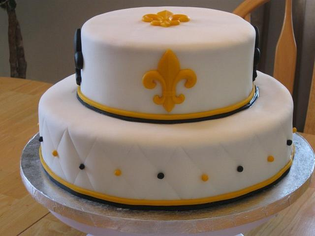 New Orleans' Saints Grooms Cake