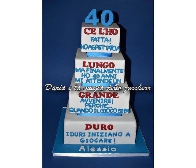 allusive cake for 40th man
