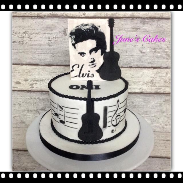 Amazing Elvis Presley Cake By June Verborgstads Cakesdecor Birthday Cards Printable Opercafe Filternl