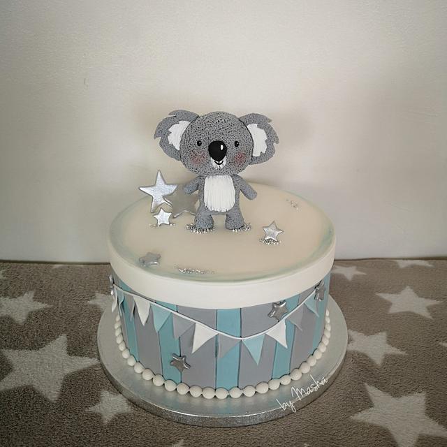 Fabulous Cute Koala Babyshower Cake Cake By Sweet Cakes By Masha Cakesdecor Funny Birthday Cards Online Hetedamsfinfo
