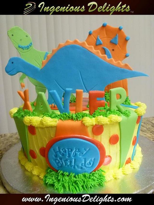 Super Dinosaurs Birthday Cake Cake By Ingenious Delights Cakesdecor Personalised Birthday Cards Paralily Jamesorg