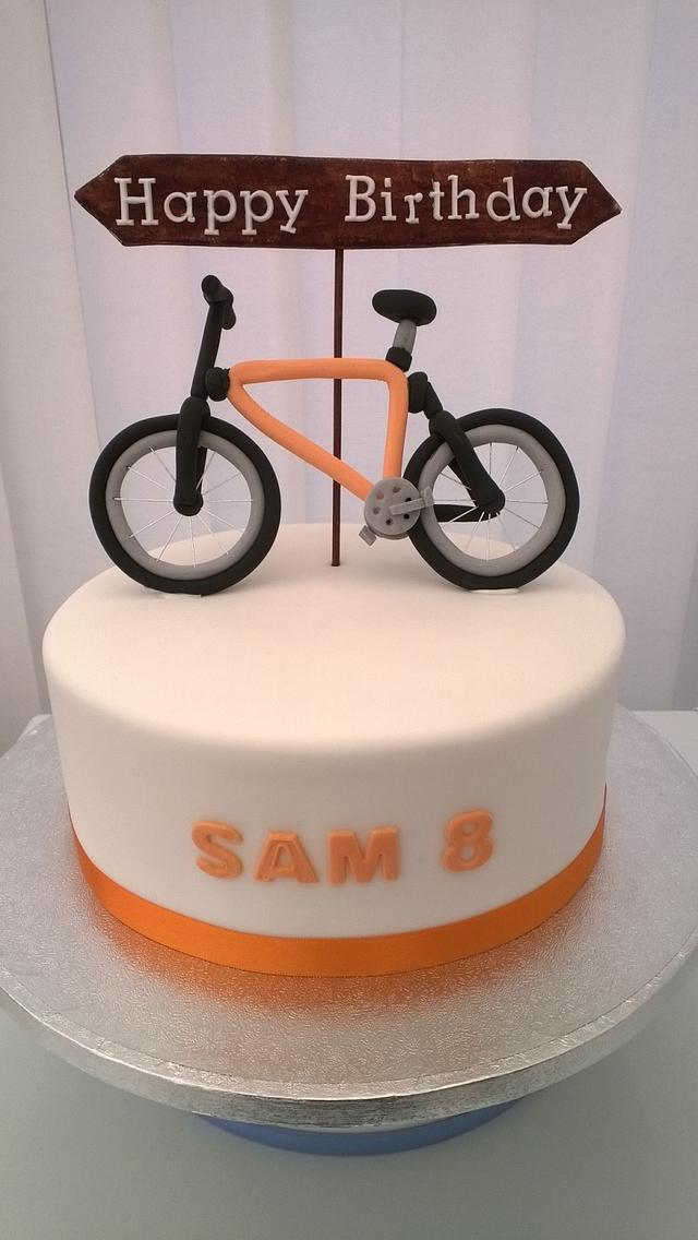 Fantastic Sams New Birthday Bike Cake By Combe Cakes Cakesdecor Funny Birthday Cards Online Overcheapnameinfo