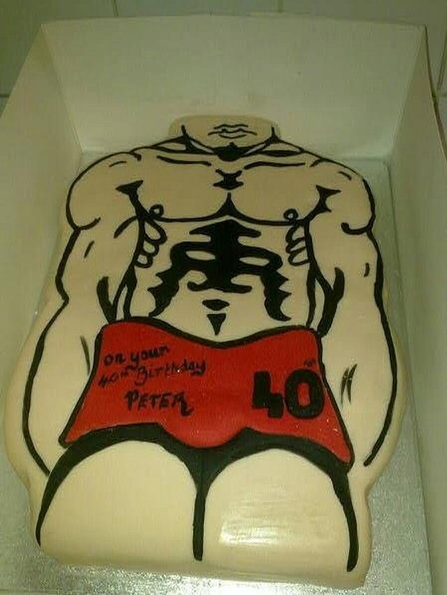 Fabulous Muscle Man Cake By Jivealive Cakesdecor Personalised Birthday Cards Xaembasilily Jamesorg
