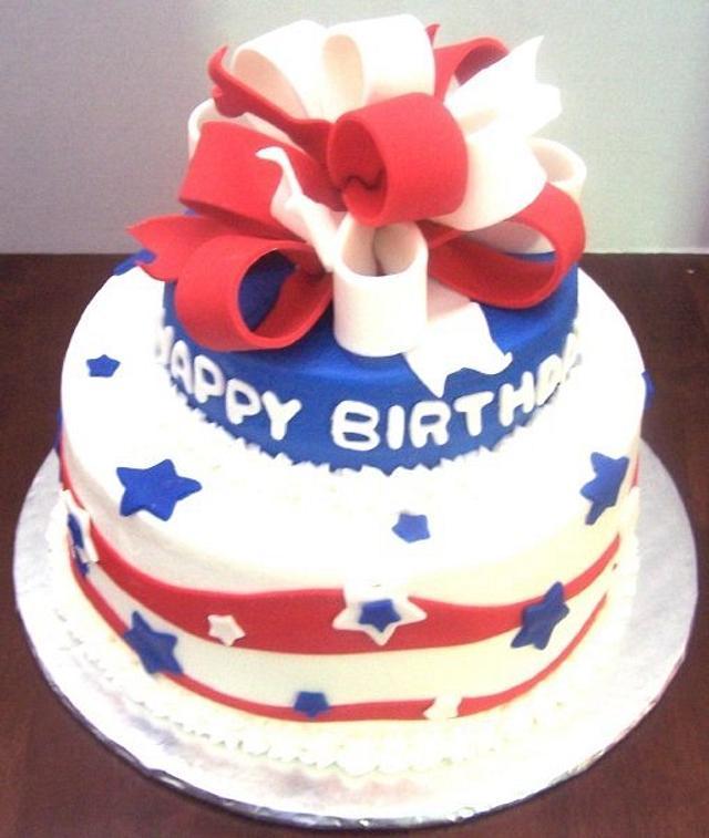 Fantastic 4Th Of July Birthday Cake By Cherissweets Cakesdecor Funny Birthday Cards Online Inifofree Goldxyz