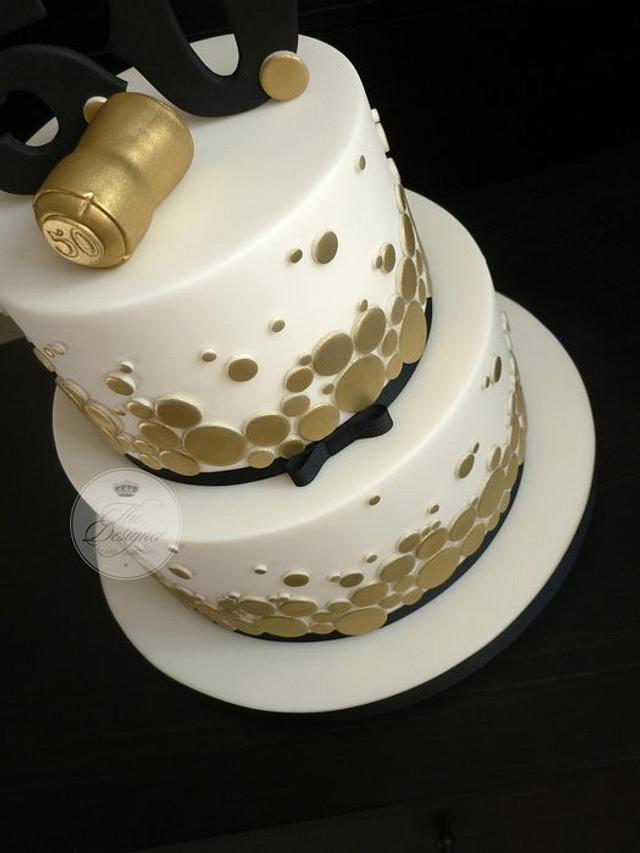 Superb Champagne Themed 50Th Birthday Cake Cake By Isabelle Cakesdecor Funny Birthday Cards Online Hetedamsfinfo