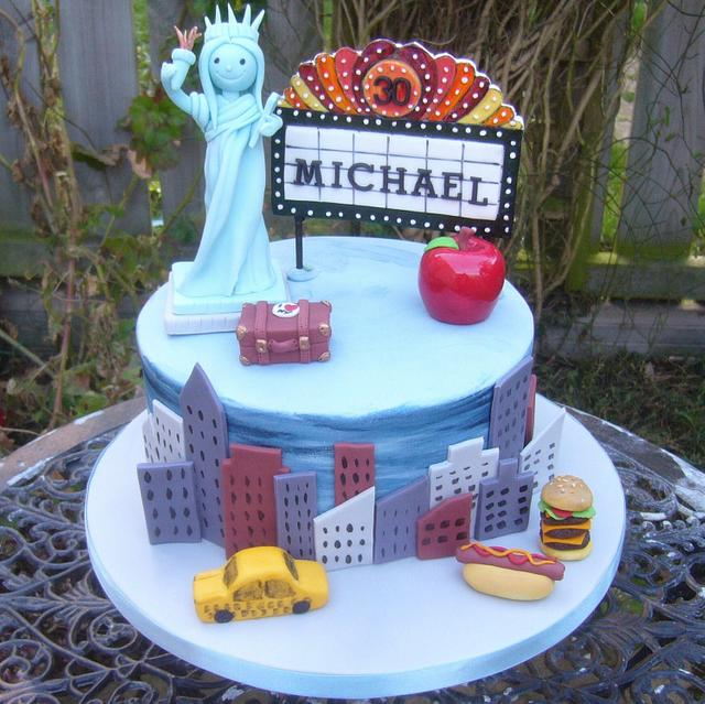 Fantastic New York City Birthday Cake Cake By Kates Bespoke Cakesdecor Birthday Cards Printable Riciscafe Filternl