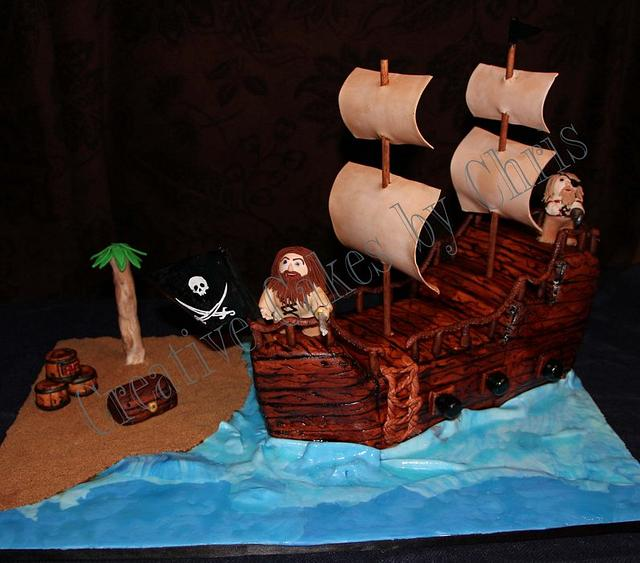 3-D Pirate Ship