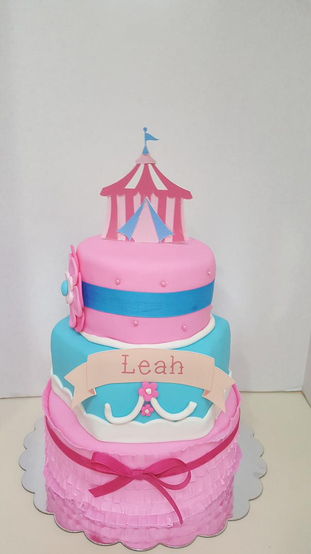 Groovy Circus Birthday Cake Cake By Tiffany Dumoulin Cakesdecor Personalised Birthday Cards Veneteletsinfo
