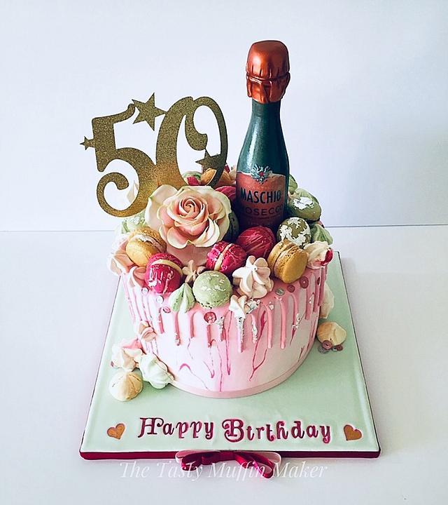 Strawberry & Prosecco cake