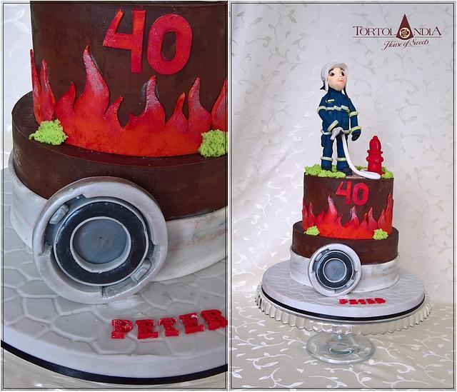 40th birthday for fireman