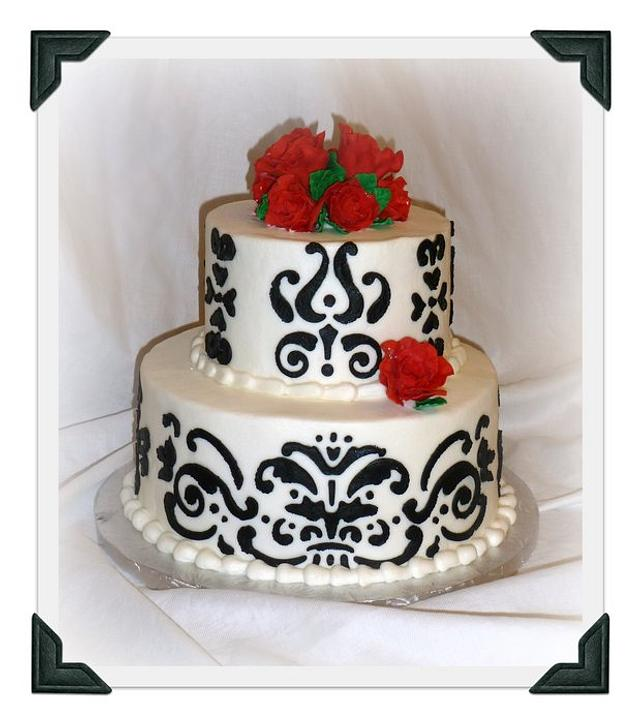 Elegant two tiered cake