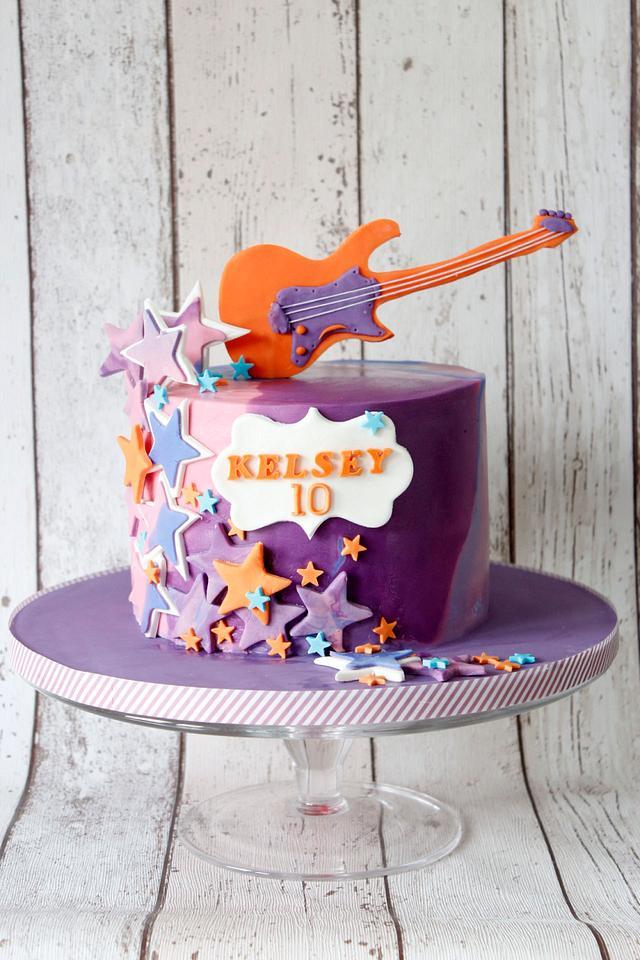 Rock star themed cake
