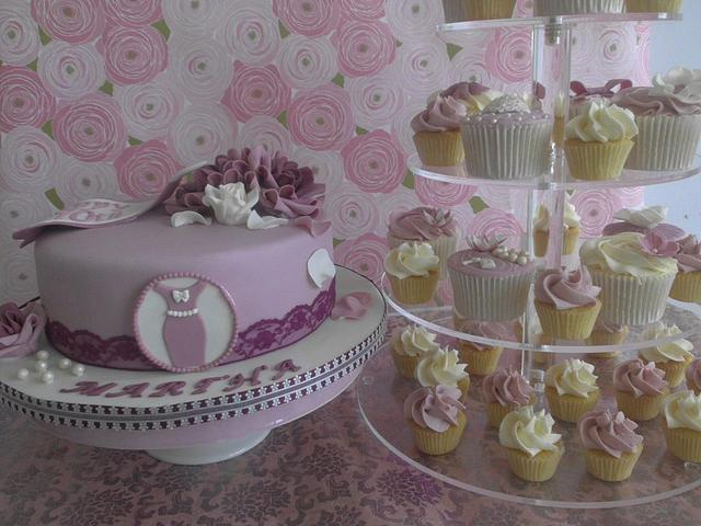 70th Birthday Cake and cupcakes