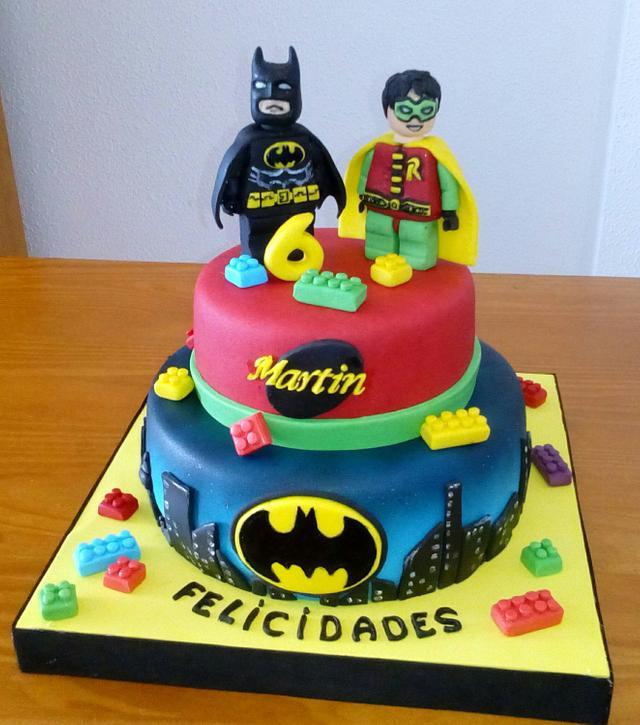 Fine Batman Y Robin Lego Cake Cake By Camelia Cakesdecor Personalised Birthday Cards Vishlily Jamesorg