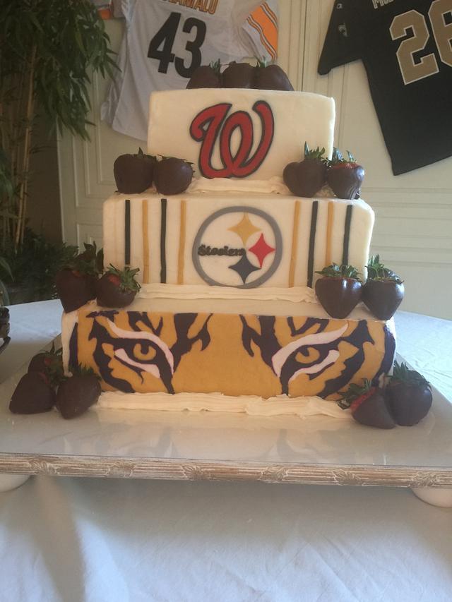 Sports Favs Groom's Cake