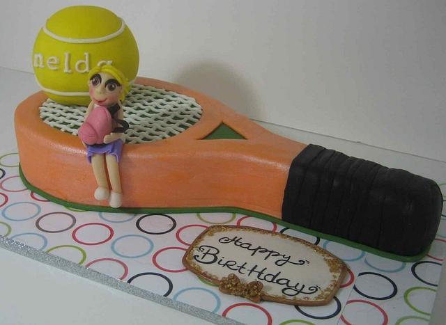 tennis birthday cake