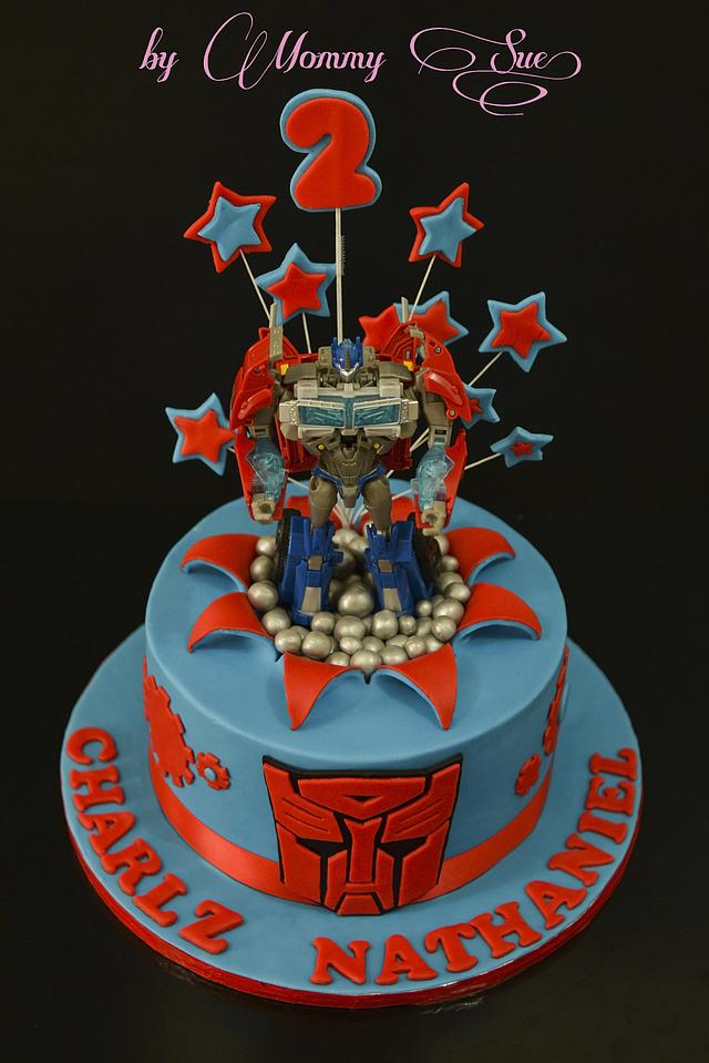 Sensational Optimus Prime Transformers Cake Cake By Mommy Sue Cakesdecor Personalised Birthday Cards Paralily Jamesorg