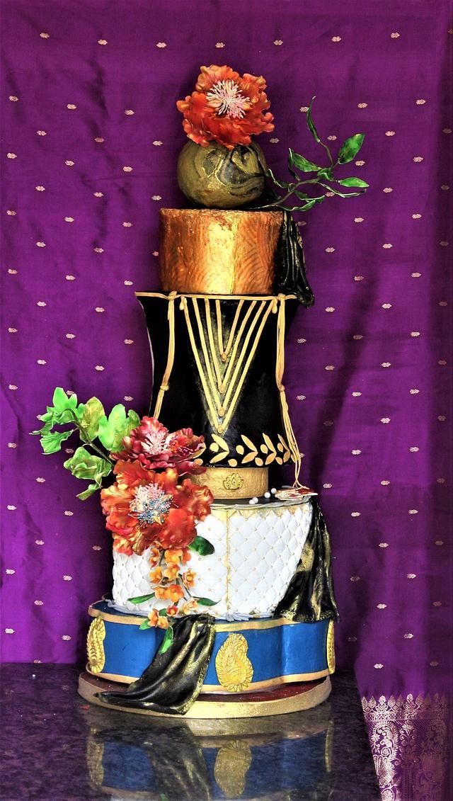 Indian fashionista choli cake