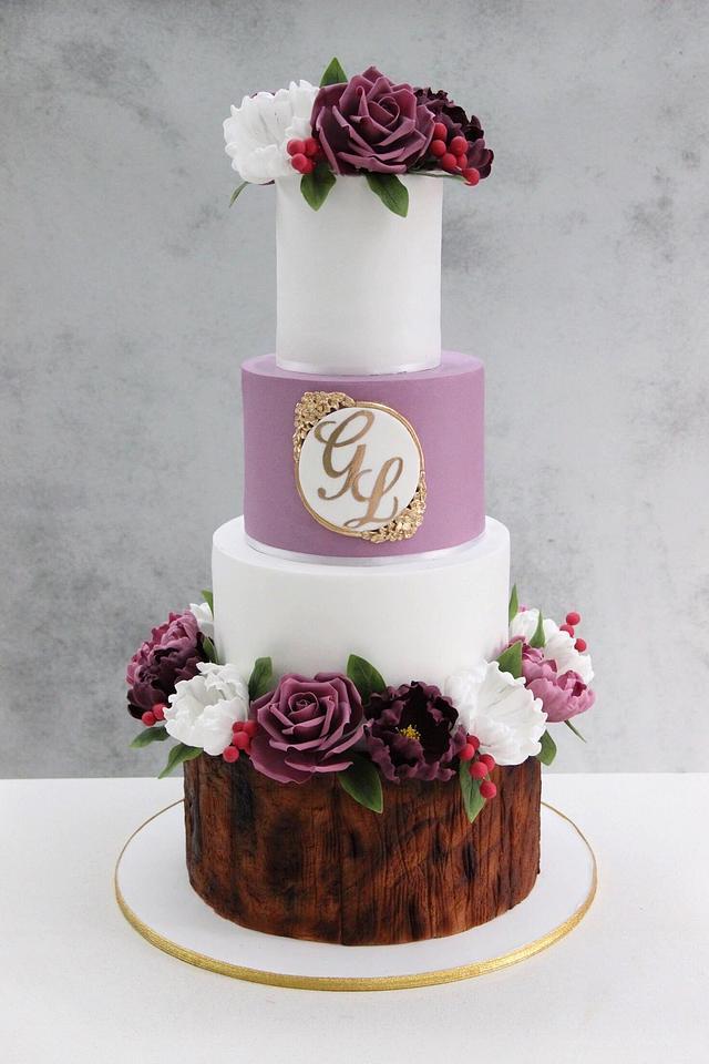 Rustic Wedding Cake !