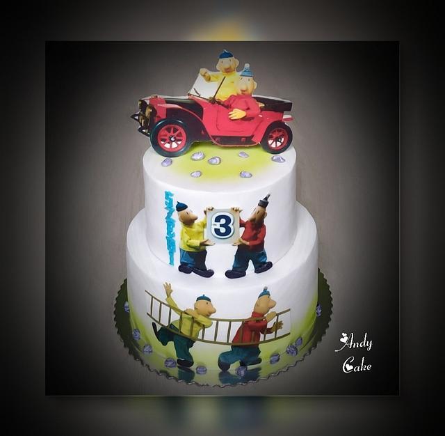 Pat and Mat birthday cake