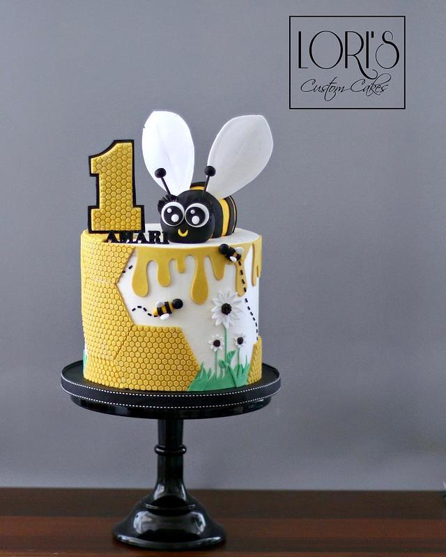 Peachy Hap Bee Birthday Cake Cake By Lori Mahoney Loris Cakesdecor Funny Birthday Cards Online Inifofree Goldxyz