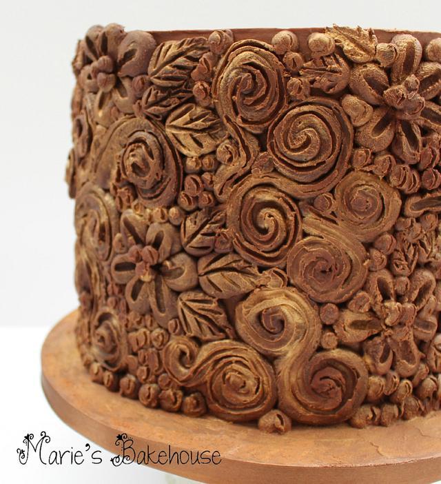 Carved ganache cake for Rocky Horror Sugar Show