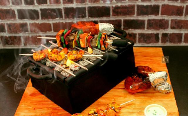 Barbecue Grill Cake
