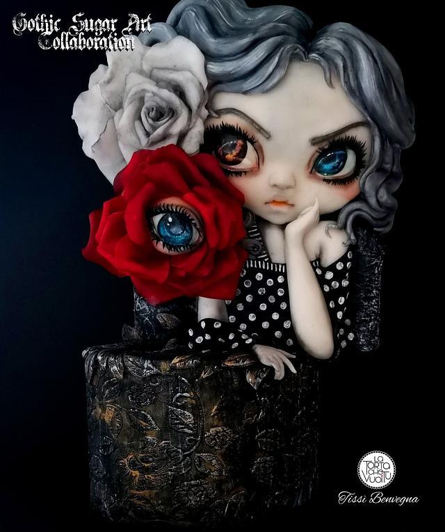 Dark Cake in Gothic Sugar Art Collaboration
