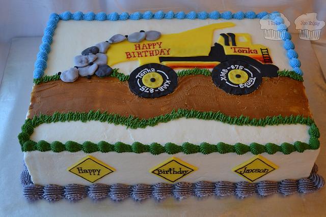 Super Tonka Truck Cake By Susan Cakesdecor Funny Birthday Cards Online Necthendildamsfinfo