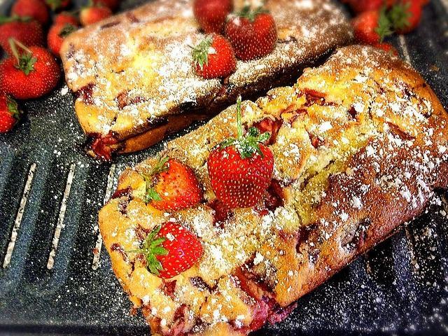 Strawberry Cream cheese swirl Cake