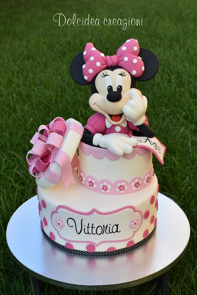 Sweet Minnie Mouse cake by Dolcidea creazioni CakesDecor