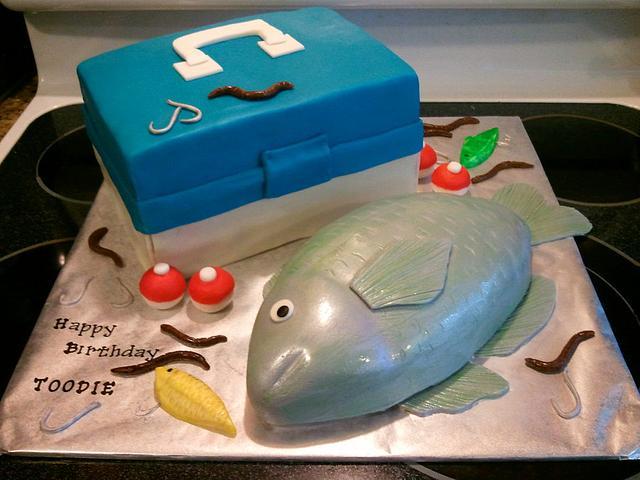 Fish cake and Tackle box