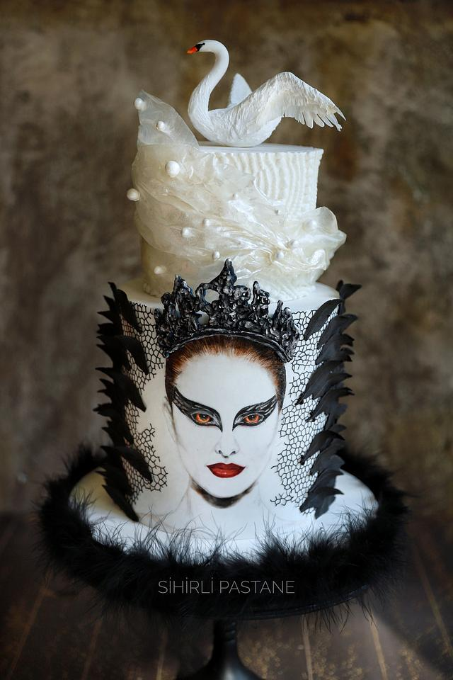 Black Swan Movie Cake